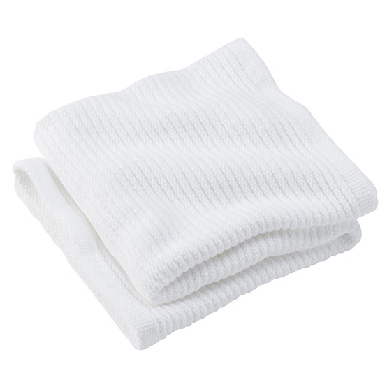 Bedford Cord Organic Cotton Baby Blanket in White