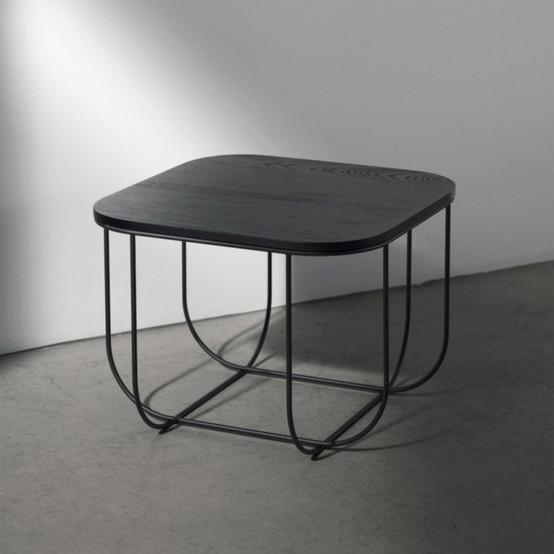 Cage Table, Black/Dark Ash