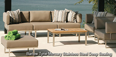 Barlow Tyrie Mercury Stainless Steel furniture