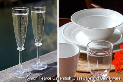 Simon Pearce Glassware and Pottery