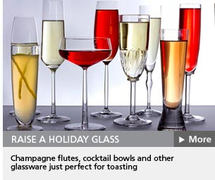 Glassware to raise a toast to the new year