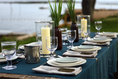 Perfect seaside tablesetting from Didriks