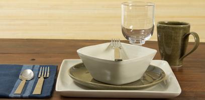 Simon Pearce Woodbury dinnerware